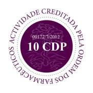 Logotipo de creditação do Mestrado em Ciências Biomédicas pela Ordem dos Farmacêuticos