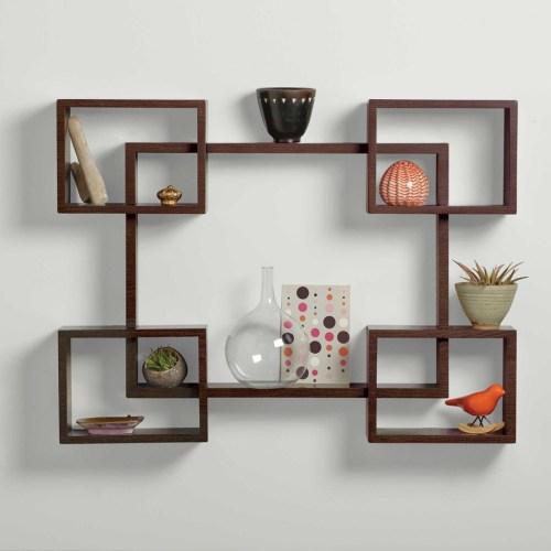 Medium Of Wood Wall Shelves
