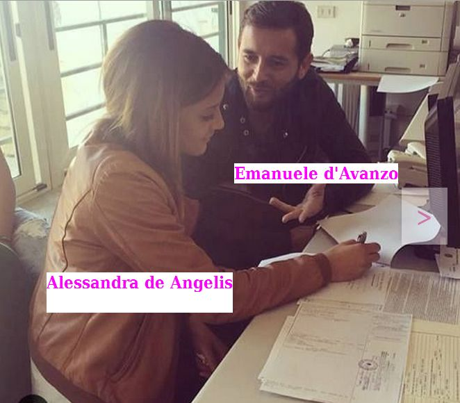 Emanuele d'Avanzo e Fabiola Cimminella in comune per il matrimonio