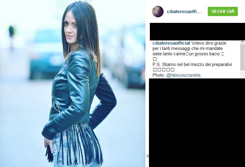Teresa Cilia riceve un messaggio commovente da una fan