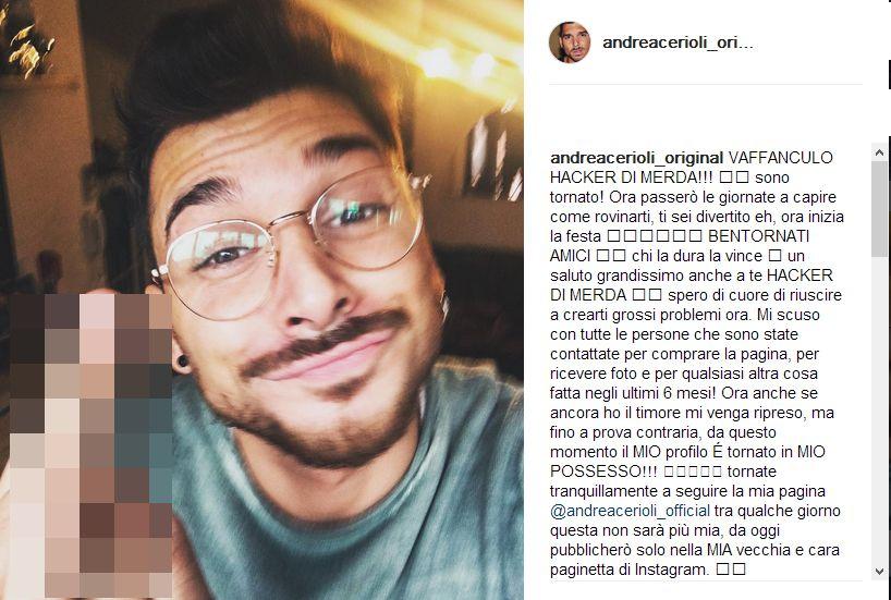 Andrea Cerioli su Instagram