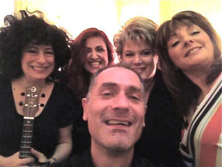 Ilene Angel and Friends backstage at The Triad, NYC