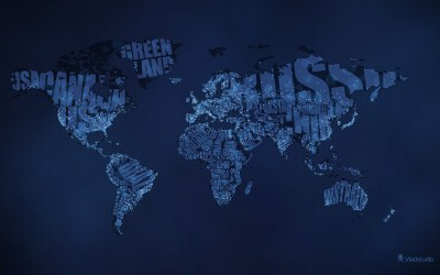 Daily Wallpaper: Typographic World Map | I Like To Waste My Time
