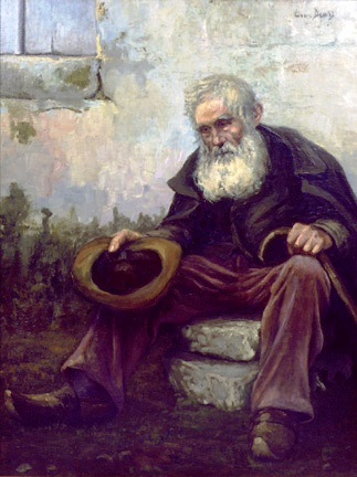 The old beggar by Louis Dewis