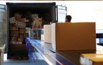 unloading area