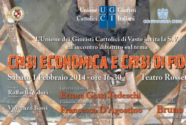 """""""Crisi economica e crisi di fiducia"""", incontro dibattito al Teatro Rossetti"""