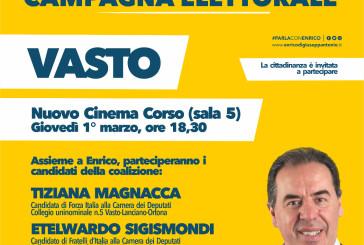 Enrico Di Giuseppantonio a Vasto per la chiusura della campagna elettorale