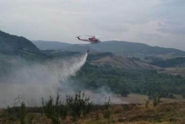Vasto incendio tra Carpineto Sinello e Guilmi