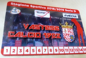 Abbonamenti Vastese Calcio, superata quota 500