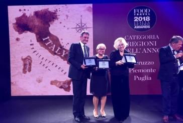 Turismo, l'Abruzzo premiato agli Awards Food & Travel Italia 2018