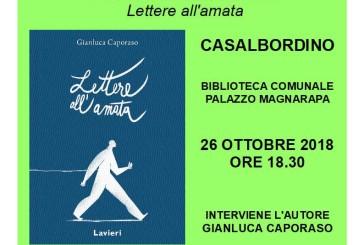 """""""Lettere all'amata"""" di Gianluca Caporaso, venerdì la presentazione"""