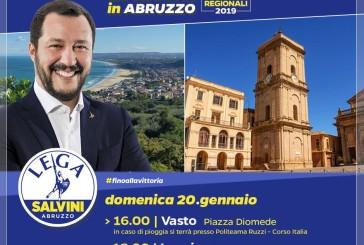 Matteo Salvini oggi a Vasto