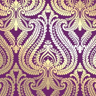 I Love Wallpaper Shimmer Damask Metallic Designer Feature Wallpaper Plum / Gold | eBay