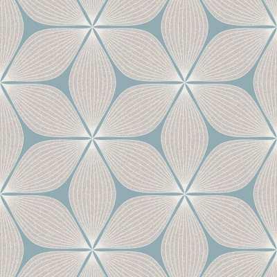 Coloroll Vibration Wallpaper Teal / Silver (M1023) - Wallpaper from I love wallpaper UK