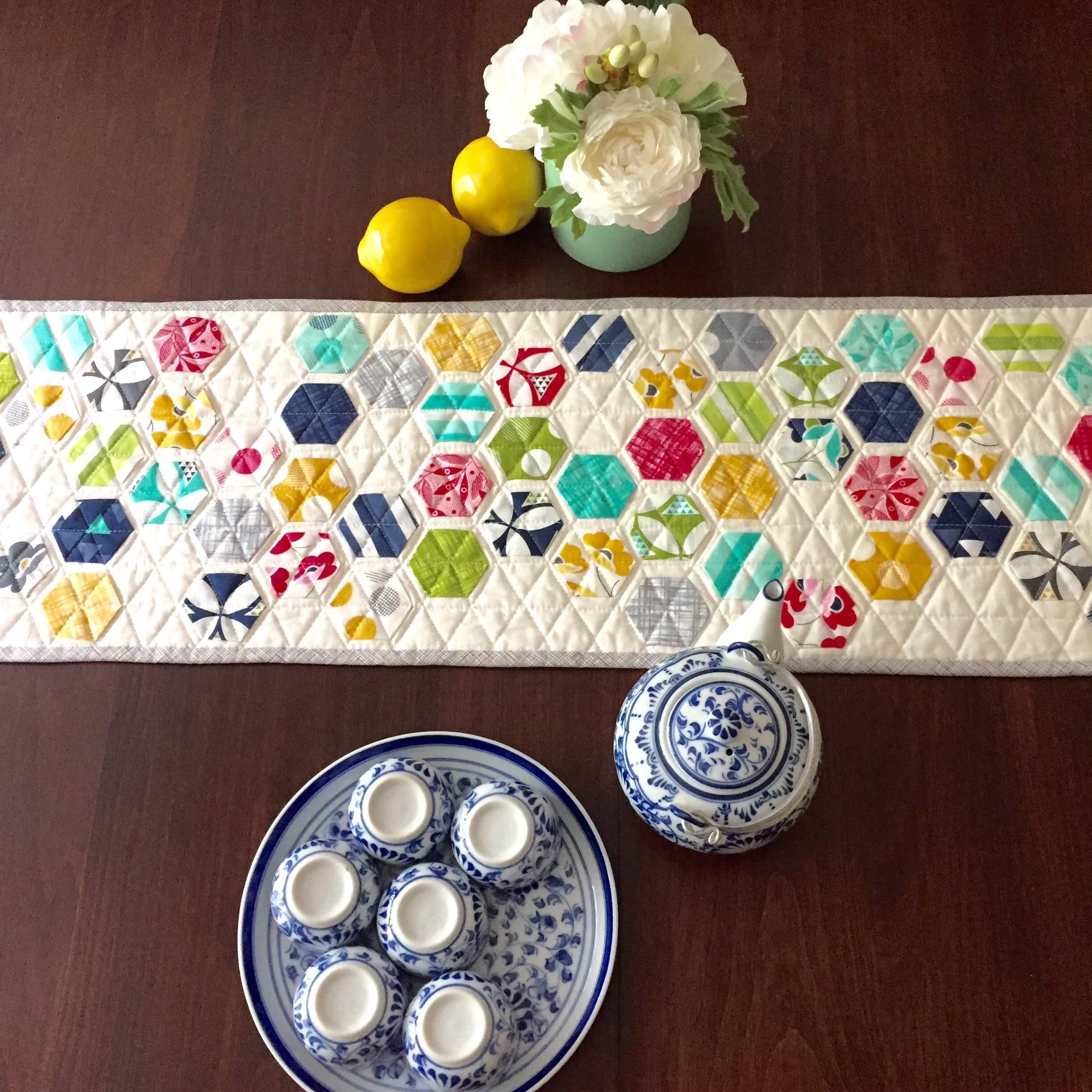 Modern Hexie Table Runner