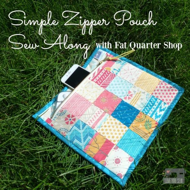 Zipper Pouch Sew Along
