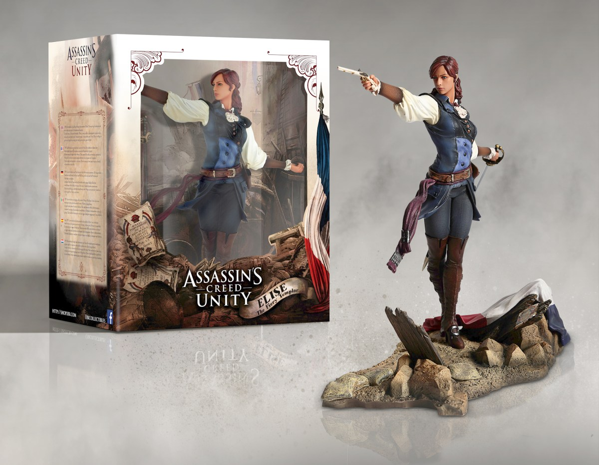 Assassin's Creed Unity, l'action figure di Elise, immagini ed artwork