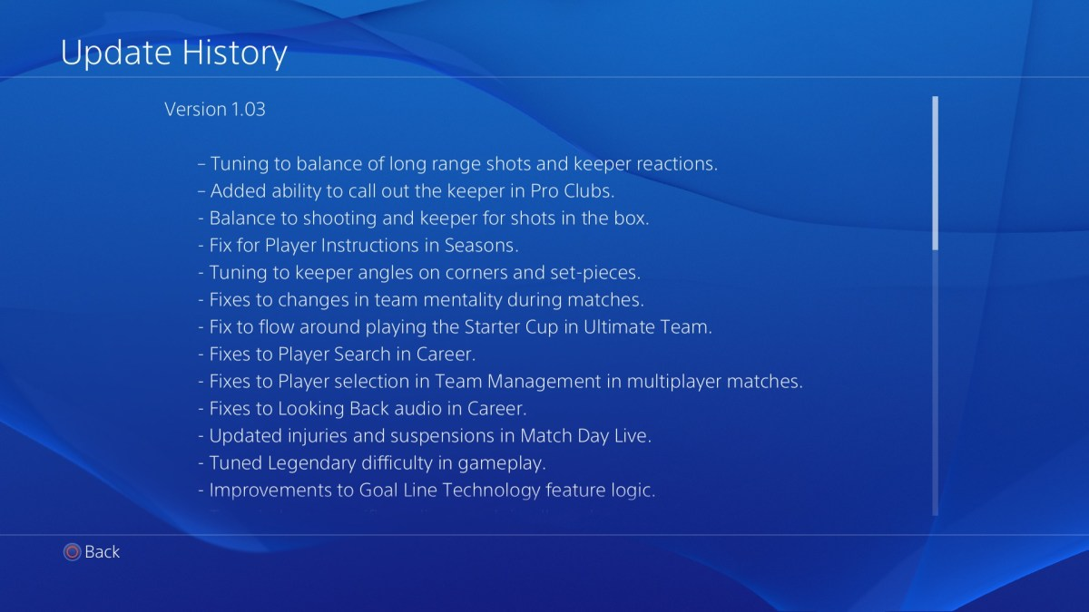 Fifa 15, c'è la patch 1.03 per la versione PlayStation 4