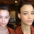 Make-up fotoshoot fashion website