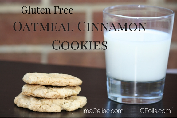 Gluten Free Oatmeal Cinnamon Cookies