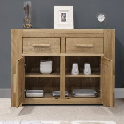 Pemberton solid oak living room furniture medium storage ...