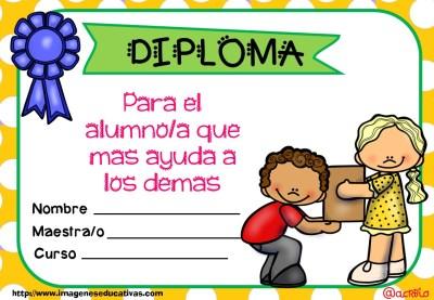 Diplomas FIN DE CURSO para premiar actitud y las capacidades (9)