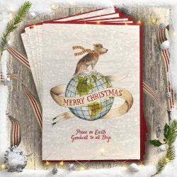 Regaling Peace On Earth Card Pack Charity Delightful Original Designs Dog Cards Wholesale Dog Cards Ideas Dog Cards