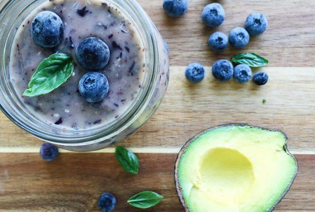 Blueberry Avocado Chia Smoothie