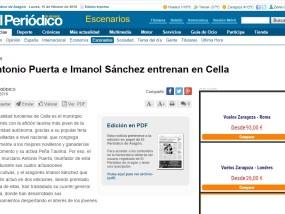 Puerta e Imanol Sanchez entrenan en Cella