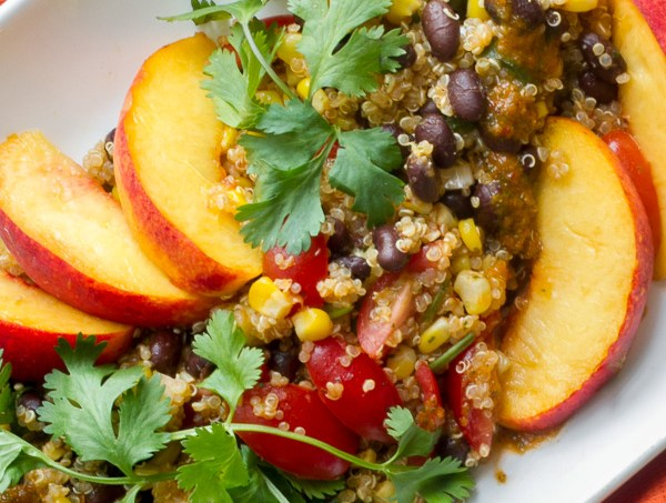 Quinoa-Chipotle-Peach-Salad