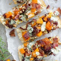 Butternut Squash-Bacon-Blue Cheese-Pizza