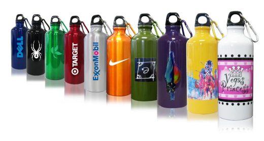 22 oz Aluminum Water Bottles w/ Carabiner