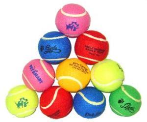 Red, Blue, White, Pink, Black, Orange, Green, Yellow Tennis Balls / Dog Balls