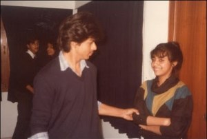 Shahrukh Khan with Gauri during College Days