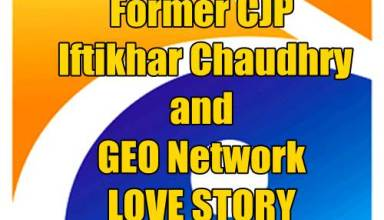 Former CJP Iftikhar Chaudhry and GEO Network