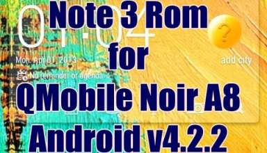 Note 3 Rom for QMobile Noir A8