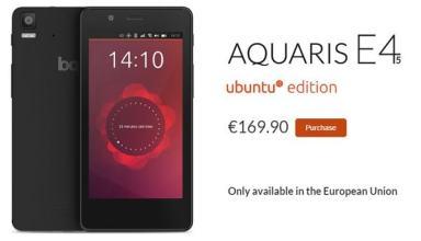 Ubuntu Aquaris E4s