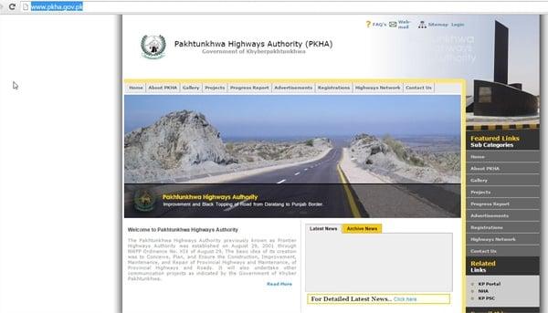 Khyber Pakhtunkhwa Highways Authority Home