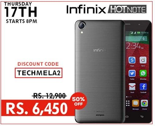 Infinix Hot Note discount offer