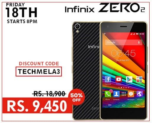 Infinix Zero 2 50% discount offer