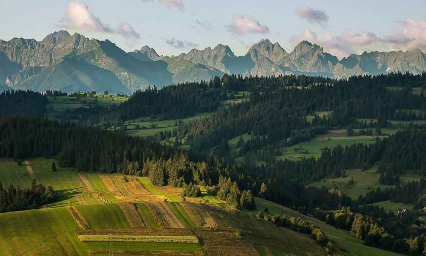 High Tatras as seen from the Polish Spisz, Tatry Natura 2000 Special Area of Conservation, Lesser Poland Voivodeship, Poland. — Photo by Łukasz Śmigasiewicz