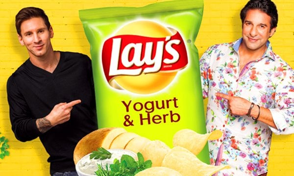 Lays Legends Waseem Akram and Lionel Messi introduce Lays newest flavor Yogurt & Herb