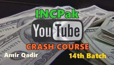 INCPak Youtube Crash Course 14th Batch