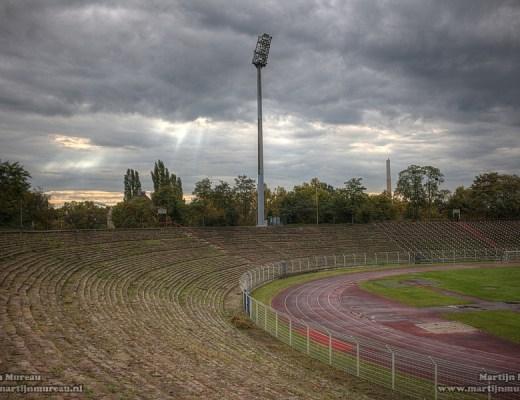 Het vervallen Sudweststadion van Ludwigshafen