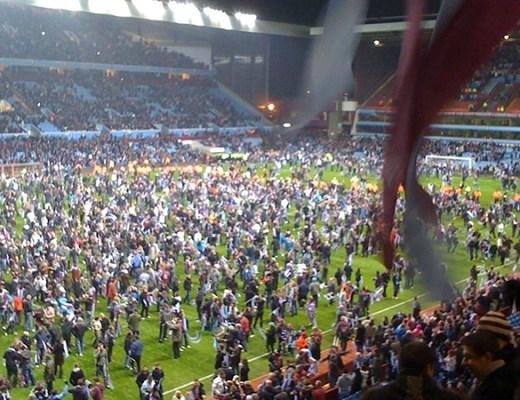 Pitch invasion Aston Villa West Brom