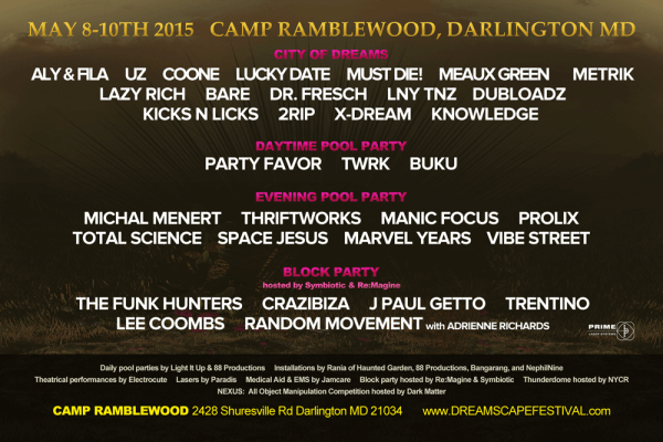 dreamscape 2015 line-up