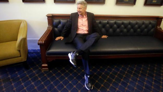 Gary Johnson waiting in Utah