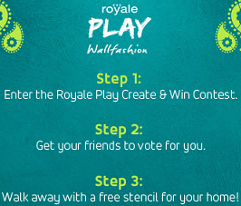 Free Royale Play Wall Fashion Stencil Kit | Asian Paints