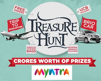 Myntra Treasure Hunt Contest, Win Free Orders, UCB Vouchers and More