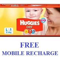 Huggies Free Mobile Recharge Offer